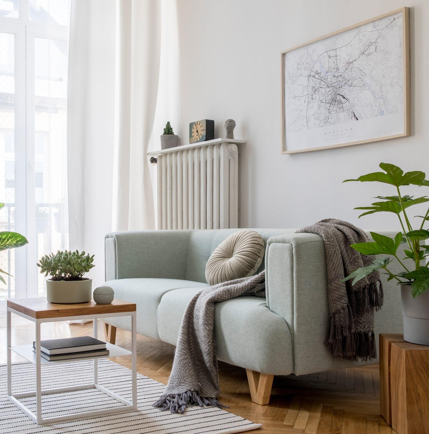 Wohnraum zur Darstellung der Immobilienbewertung